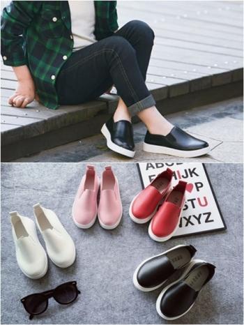 【Z325010】簡約便脫鬆緊平底懶人便鞋/休閒鞋/幼兒小孩男女童鞋-Treat