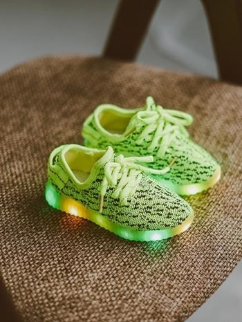 【Z325056】酷炫時尚針織LED燈七彩鞋/男女童鞋/休閒鞋/發光鞋-Reform