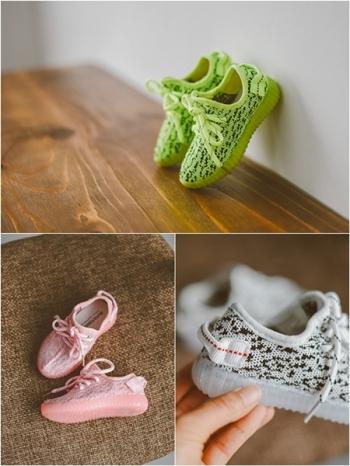 【Z325057】歐美時尚針織繫帶男女童鞋/兒童慢跑鞋/休閒鞋-Reform