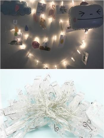 【Z433224】PUB/房間布置/照片牆/相片夾子燈串LED燈/串燈(10個夾子)-Better