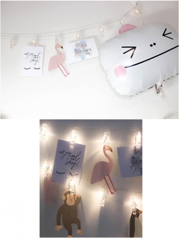【Z433225】PUB/房間布置/照片牆/相片夾子燈串LED燈/串燈(20個夾子)-Better
