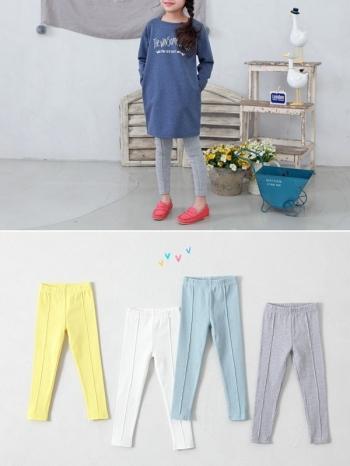 【Z423010】純色彈力窄管褲/色褲/小腳褲/兒童/休閒長褲/童裝-Smug