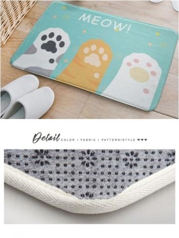 【Z433041】(大號)萌系貓掌肉球圖案造型地墊/地毯/腳踏墊/絨毛毯-Cordial