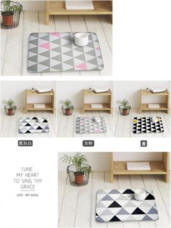 【Z433037】(特大號)現代風幾何三角造型地墊/地毯/腳踏墊/絨毛毯-Heaven