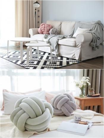 【Z433152】(小號)北歐風打結球纏繞造型抱枕/沙發枕/枕頭/靠枕/靠墊-Suffice