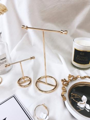 【Z432143】(小號)時尚簡約項鍊耳環首飾金色展示架/櫥窗陳列/婚禮小物/居家擺飾-Soar