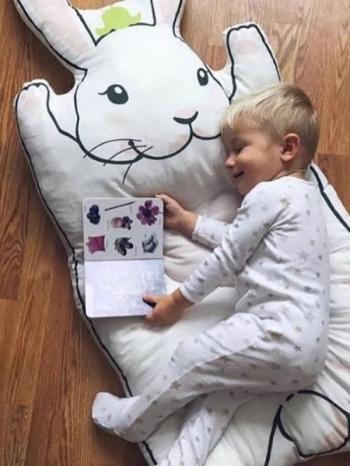【Z433264】IG爆紅人氣超萌兔子寶寶小孩爬行墊/遊戲墊/睡床/寶寶房布置/裝飾-Leap