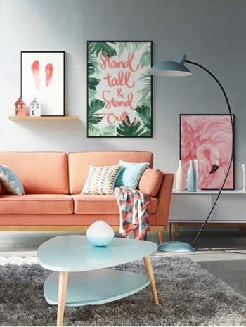 【Z433279】(35x50cm)居家擺設裝飾紅鶴圖案油畫畫框/藝術掛畫(框種類可選)-Leap
