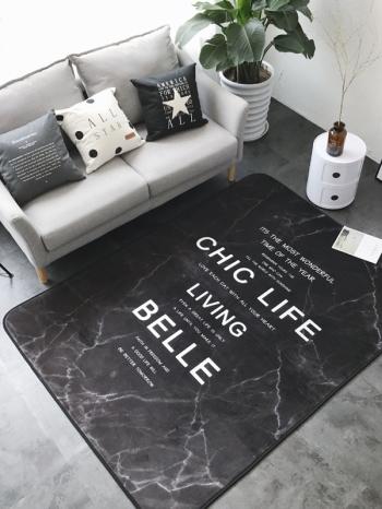 【Z433314】(大)居家布置裝飾繽紛可愛圖案舒適絨毛地墊/地毯-Leap