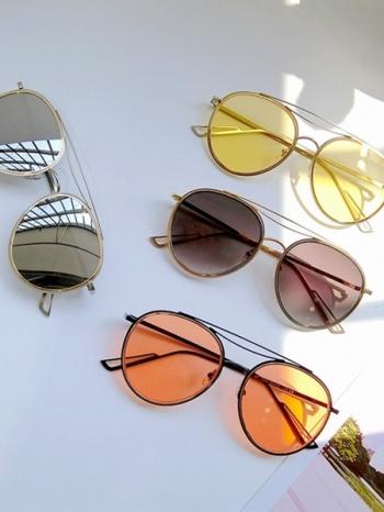 【Z431037】復古風韓星潮流個性彩色鏡片造型墨鏡/太陽眼鏡-Modish