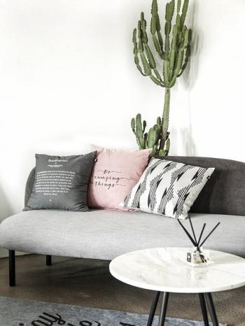 【Z433341】歐美風居家生活字母圖案方型枕頭/抱枕/沙發枕/靠墊-Space
