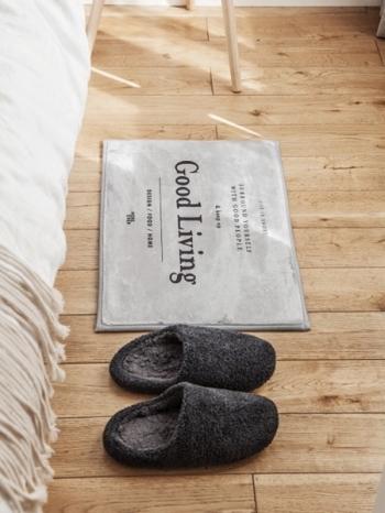 【Z433347】歐美現代感字母圖案短絨毛浴室起居室房防滑地墊/地毯/腳踏墊-Space