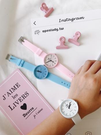【Z430182】韓妞ulzzang風粉嫩冰淇淋色系手錶/造型錶-Achieve