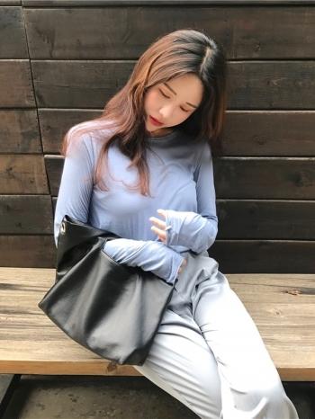 【Z418252】極簡純色不收邊設計短版上衣/長袖上衣/長T-Autumn