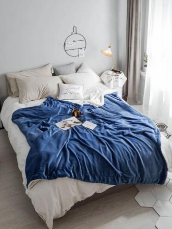 【Z433564】(大)保暖加厚雙層設計珊瑚絨毛毯/蓋毯/毯子/午睡毯/空調毯-Cozy