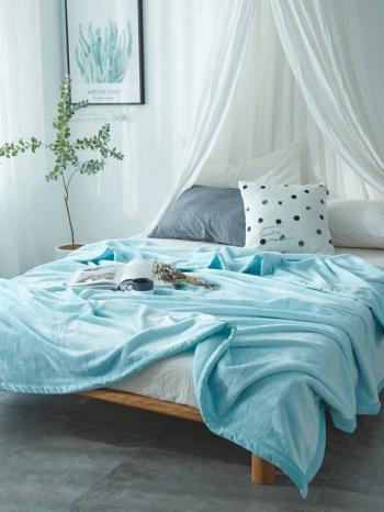 【Z433603】(中)保暖純色雙面法蘭絨多功能蓋毛毯/毯子/蓋毯-Cosy