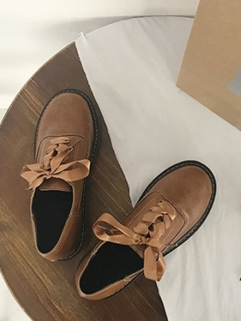 【Z415270】原宿復古ulzzang風格皮鞋/休閒鞋/圓頭牛津鞋-Crashing