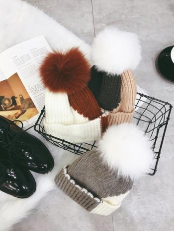【Z417093】百搭帽頂可愛絨毛球球造型毛帽/針織帽/毛線帽/兒童成人親子帽-Tiptop