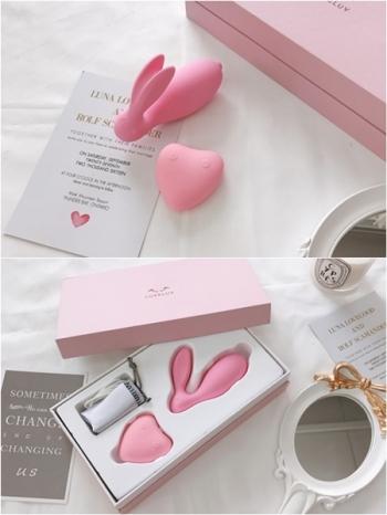 【Z436064】甜蜜兔子造型防水矽膠舒壓按摩器/套裝組-Topmost