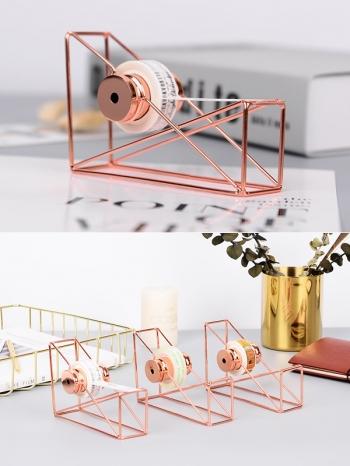 【Z536005】唯美時尚鏤空造型玫瑰金金屬膠帶台/膠帶座(不含膠帶)-Hipster