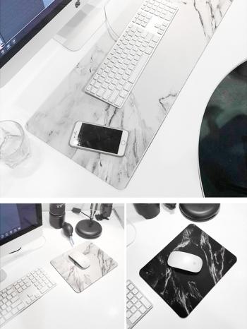 【Z539002】(小號)北歐風大理石紋造型滑鼠墊-Hipster