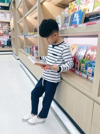 【Z523001】休閒百搭鬆緊綁帶褲頭上寬下窄版型哈倫褲/寬褲/大童/童裝-Hygge