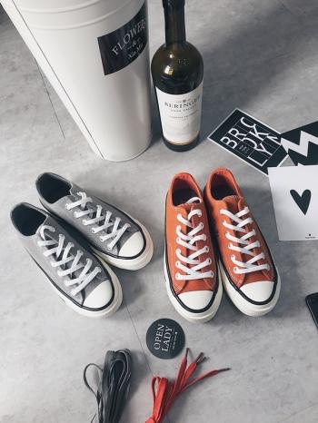 【Z515008】百搭街拍風麂皮絨料帆布鞋/便鞋/休閒鞋/平底鞋/情侶鞋(男女皆有尺寸)-Prevalent