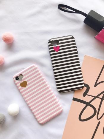 【Z537039】蘋果iphone 6/6s.6plus/6s plus.7/7plus.8/8plus.X 簡約條紋情侶手機殼(軟殼)-Finer