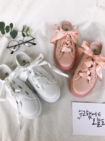 【Z515031】簡約純色拼接設計寬緞帶繫帶造型懶人鞋/平底鞋/休閒鞋/踩腳鞋-Elegent