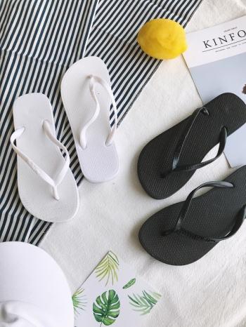【Z515033】夏日渡假風輕便百搭平底造型夾腳拖/拖鞋/人字拖-Elegent