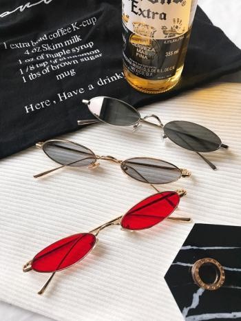 【Z531013】另類復古嘻哈扁圓細框眼鏡/造型眼鏡-Elegent