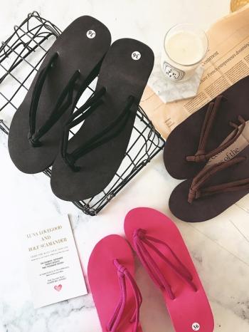 【Z515056】(雙帶款)簡約舒適厚底造型夾腳拖/拖鞋/人字拖/沙灘鞋-Agnes