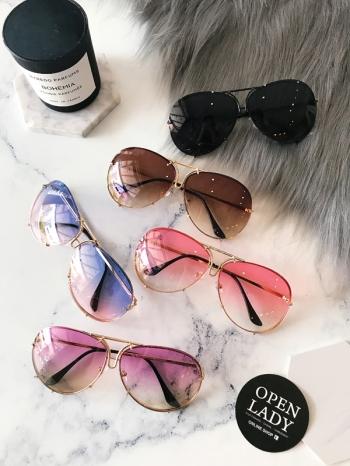 【Z531015】復古大框眼鏡/造型眼鏡/墨鏡/太陽眼鏡-Agnes
