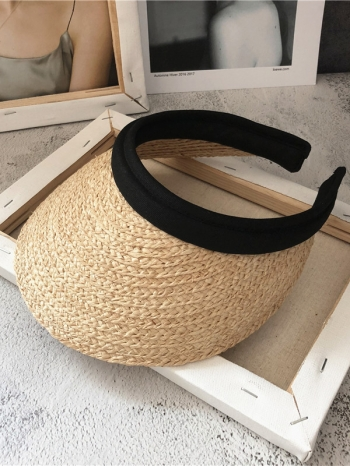 【Z517026】親膚包邊設計空頂帽/遮陽帽/編織帽/草編帽/草帽-Vibrant
