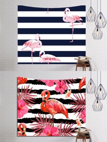 【Z533106】(229x153)手繪紅鶴系列掛布/掛旗/桌布/牆面裝飾/拍攝道具-Upbeat