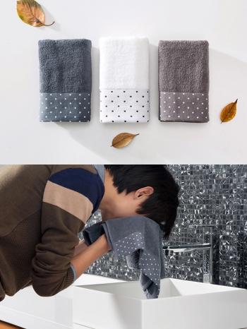 【Z533134】純色圓點點純棉毛巾/擦手巾/長巾(三色一組售)-Luxury