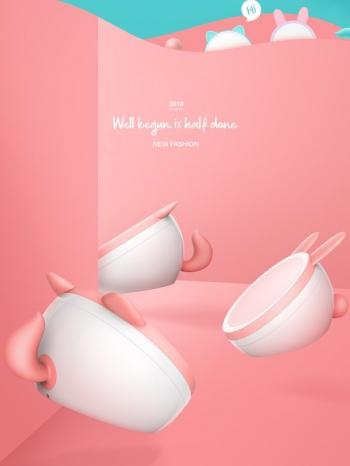 【Z532174】(時尚版)萌寵大耳造型化妝鏡/收納盒/化妝盒/收納盒-Aesthetic
