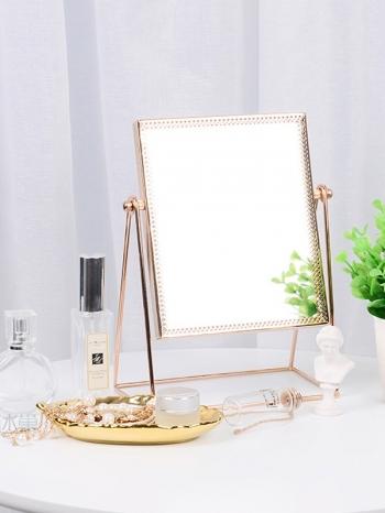 【Z536048】歐式時尚花邊造型鏡子/桌上鏡/立鏡/化妝鏡/美容鏡-Deluxe