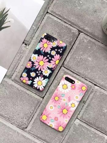 【Z537104】蘋果iphone 6/6s.6plus/6s plus.7/7plus.8/8plus 小清新花朵紅鶴造型手機殼-Wallis