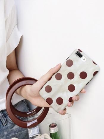 【Z537114】蘋果iphone 6/6s.6plus/6s plus.7/7plus.8/8plus.X 復古撞色點點造型手機殼-Wallis