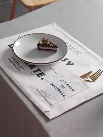 【Z538102】時尚大理石紋字母印花加厚餐墊/桌墊/餐巾/隔熱墊-Virtuous