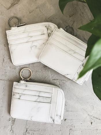 【Z516120】大理石紋卡片夾層零錢包/鑰匙包/手拿包/錢包-Aditi