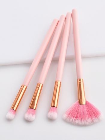 【Z535026】可愛粉色造型刷具組/美容用具/彩妝刷(彩妝刷具組4件組)-Liberal