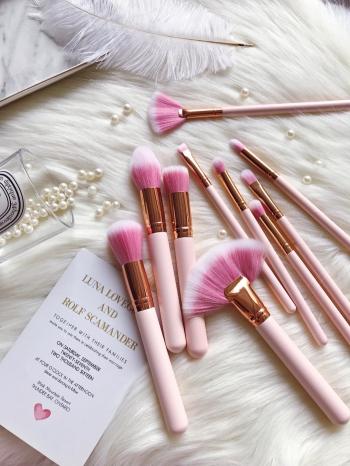 【Z535027】可愛粉色造型刷具組/美容用具/彩妝刷(彩妝刷具組10件組)-Liberal