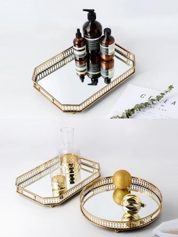【Z532274】歐式金屬花邊設計托盤/收納盤/置物盤-Gold