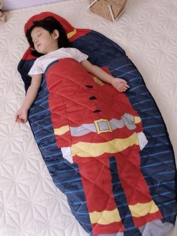 【Z534098】可愛卡通圖案嬰孩兒童防踢睡袋/棉被/蓋毯-Gold