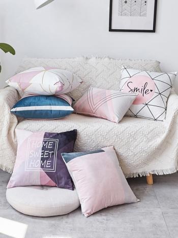 【Z634005】ins簡約風幾何絨毛抱枕/靠枕/沙發枕/腰枕-Vitality