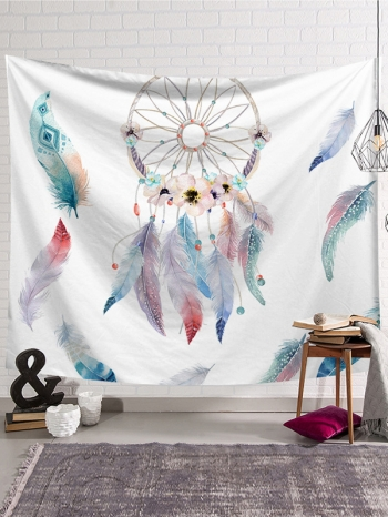 【Z633035】(小)IG植物花卉風加絨款掛布/壁掛裝飾/沙灘巾/桌布/牆面裝飾-Joyful