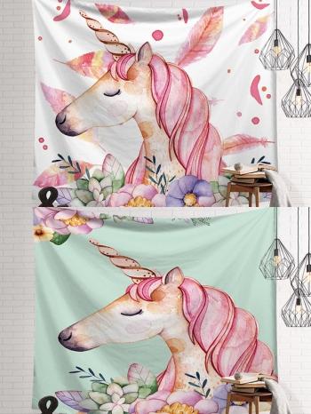 【Z633036】(大)IG植物花卉風加絨款掛布/壁掛裝飾/沙灘巾/桌布/牆面裝飾-Joyful
