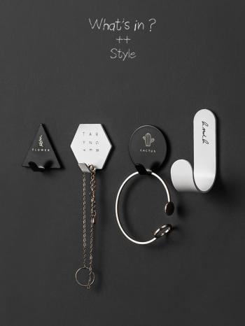 【Z633042】鐵藝造型強力粘膠掛鉤/黏鉤//牆面掛件/收納小物-Joyful